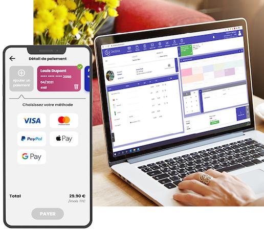 Deciplus, logiciel de gestion pour salle de fitness - caisse intégrée et paiement en ligne