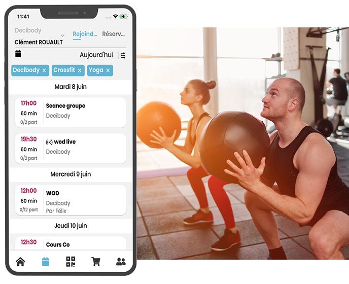 Deciplus, logiciel de gestion pour les le CrossFit et le Cross Training - réservation en ligne de wods