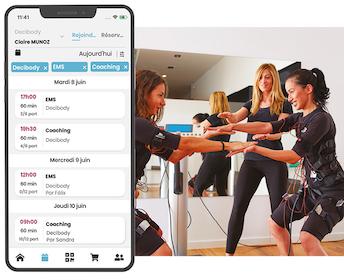 Deciplus, logiciel de gestion pour les studios et boutiques EMS - réservation et vente en ligne