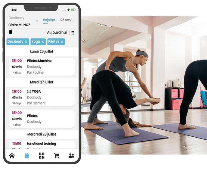Deciplus, logiciel de gestion pour les studios de yoga et Pilates - réservation en ligne