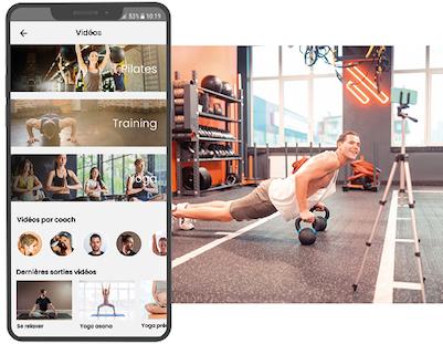 Deciplus, logiciel de gestion fitness et wellness - cours vidéo en direct et VOD, vidéothèque personnalisée