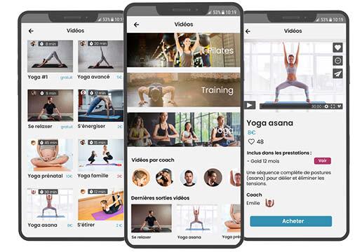 Plus de revenus avec la vidéothèque Deciplus, logiciel pour le sport et le bien-être: cours vidéo en ligne : yoga, Pilates, Fitness...